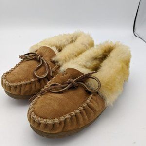 LL Bean Wicked Good Moccasins Slippers Shearling